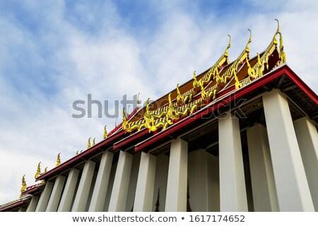 Taylandlı model mimari detay tapınak antika Stok fotoğraf © yanukit