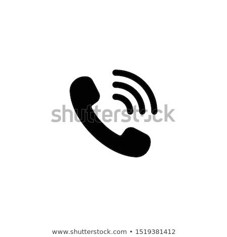 telefone · ícone · vetor · cinza · cores - foto stock © aliaksandra
