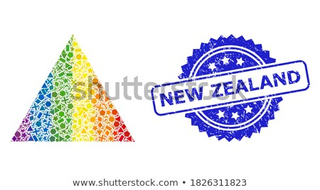 Stock photo: Vibrant colors Origami seal