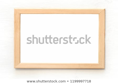 Vector template of a paper sheet -poster, picture frame- on wooden background Stock photo © sabelskaya