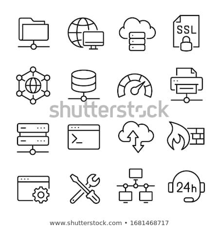 Stock fotó: Illusztráció · web · szerver · technológia · szerver · árnyék · elektronika