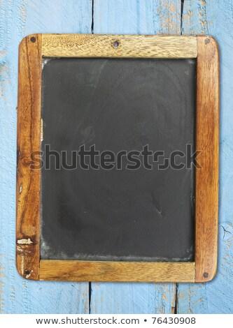 vintage blank chalkboard slate stock photo © stevanovicigor