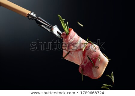 smoked bacon on a fork Stock photo © Rob_Stark