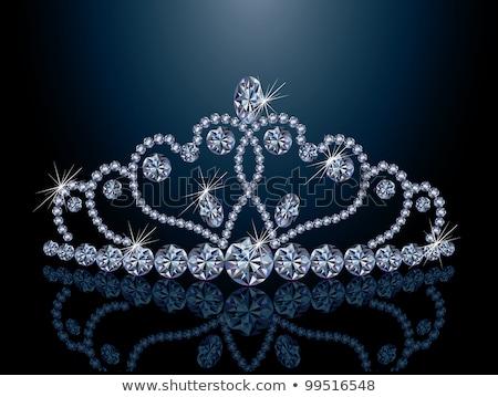 輝かしい ダイヤモンド クラウン 中心 結婚式 パーティ ストックフォト © carodi