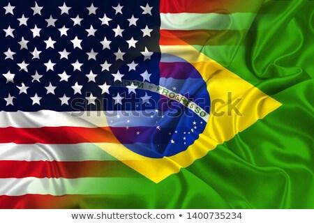 USA Brasilien Vereinigte Staaten america Hälfte Land Stock foto © tony4urban