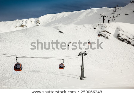 Ski Resort hiver ciel glace blanche Photo stock © kasjato