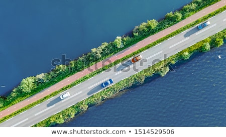 Green dike in the Netherlands Stock photo © Hofmeester