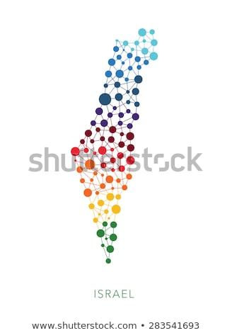 Mappa Israele punto pattern vettore immagine Foto d'archivio © Istanbul2009