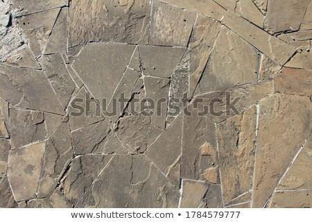 Gray Pavement - Different Size of Polygons. Stock photo © tashatuvango