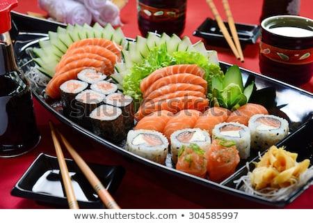 Japonya gıda sashimi pirinç restoran uzay Stok fotoğraf © Witthaya