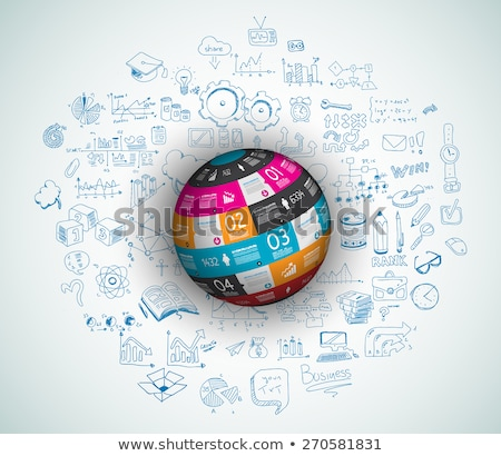 flat style concept for social media agenda organization and digital marketing stock photo © davidarts