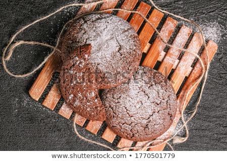 Dos frescos cookies sésamo azul Foto stock © dariazu