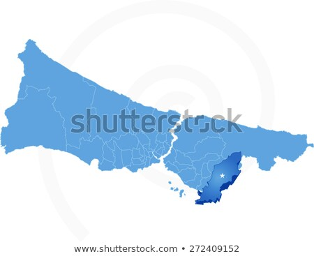 Istanbul Map with administrative districts where Tuzla is pulled Stock photo © Istanbul2009