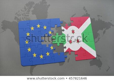 Europeu união Burundi bandeiras quebra-cabeça vetor Foto stock © Istanbul2009
