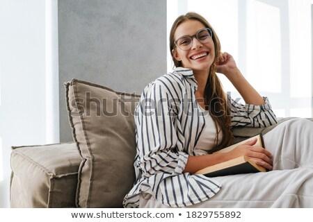 Donna isolato faccia studente Foto d'archivio © fuzzbones0