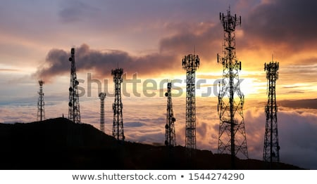 Telecommunication cell tower Stock photo © ironstealth