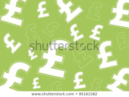 Pound Sign Green Vector Icon Design Stock photo © rizwanali3d