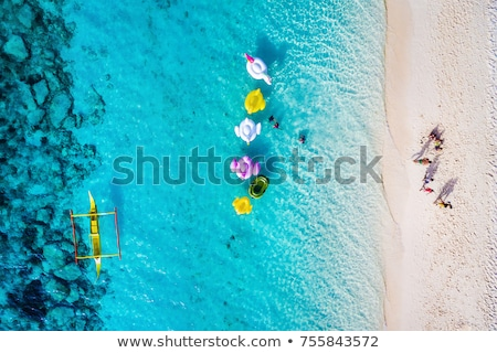 Pristine, Tropical, White Sand Beach in Southeast Asia Stock photo © pzaxe