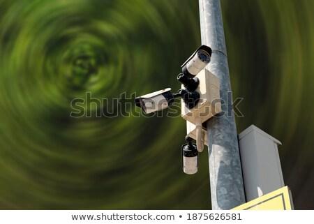 Przemysłowych cctv aparatu bezpieczeństwa słońce migotać bezpieczeństwa Zdjęcia stock © stevanovicigor