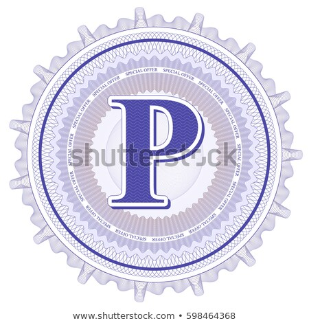 Abstract guilloche Logo, letter-P Stock photo © netkov1
