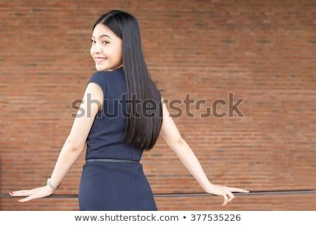 жена · назад · женщину · области · Hat · белый - Сток-фото © studiostoks