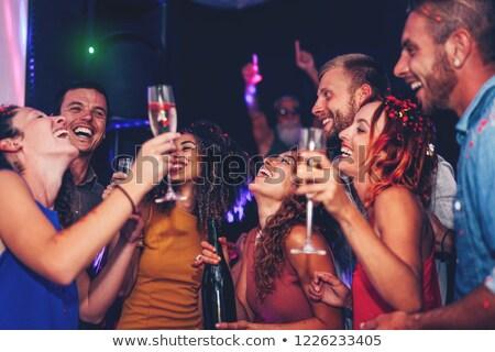 Discotheek mensen bar partij ontwerp menigte Stockfoto © bezikus