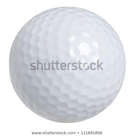golf · topu · yalıtılmış · beyaz · golf · spor · fincan - stok fotoğraf © jordanrusev