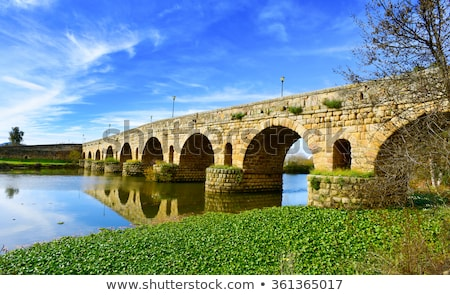 Bridge over the Guadiana River Stock photo © homydesign