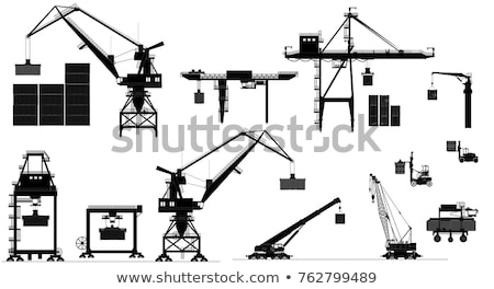 Stock photo: Crane lifting cargo containers