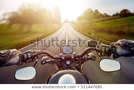 adam · motosiklet · mavi · gökyüzü · gökyüzü · spor · erkekler - stok fotoğraf © paha_l
