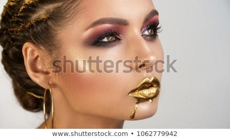 fantasy golden make up stock photo © lubavnel
