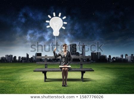 Działalności konsultacja niebo strony spotkanie biznesmen Zdjęcia stock © Paha_L