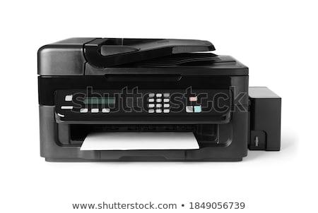 Lézer nyomtató fehér számítógép papír digitális Stock fotó © shutswis