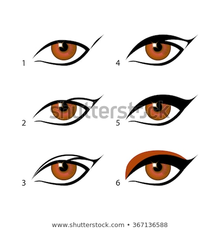 eyeliners set Winged eyeliner is a whole lot easier with this trick. Make Sense Of Makeup  Stock photo © rommeo79