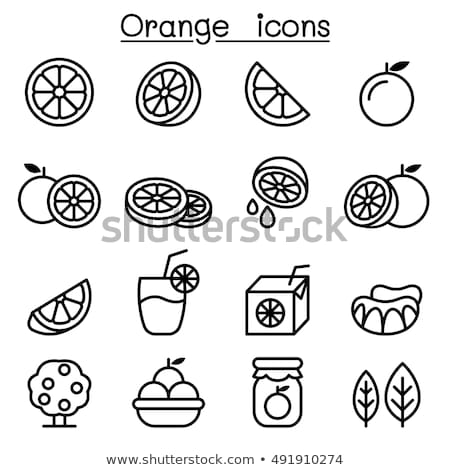 Narancs ikon étel gyümölcs ital trópusi Stock fotó © kiddaikiddee