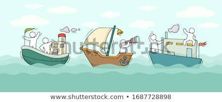 Water Transport Business Concept with Doodle design style  Stock photo © DavidArts