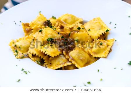 delicious meat cappelletti stock photo © zhekos