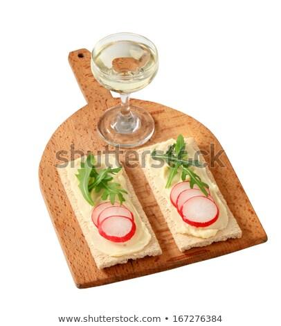 crispbread with butter radish and arugula stock photo © digifoodstock