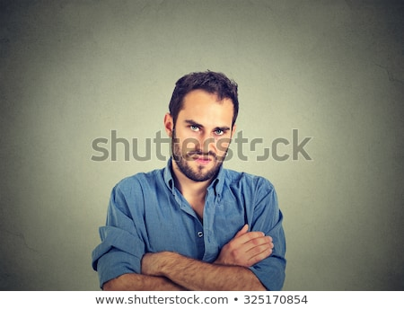 detesting angry man stock photo © rastudio