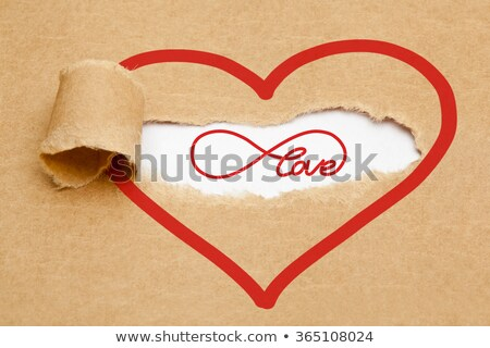 eternal love torn paper concept stock photo © ivelin