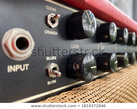 black and metallic guitar amplifier panel Stock photo © your_lucky_photo