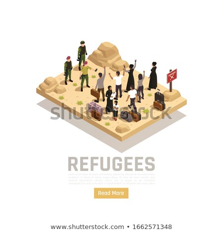 Refugees Group Stock photo © derocz