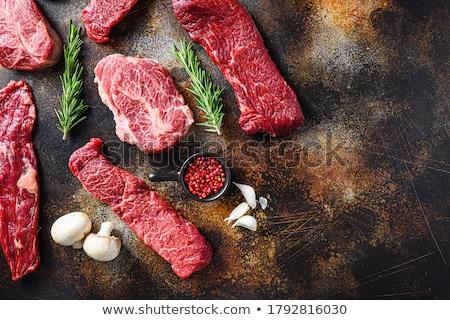 Opknoping hanger biefstuk vlees Rood Stockfoto © Klinker