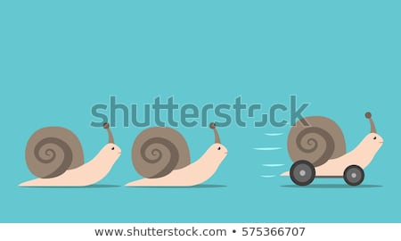 vector leadership concept with snails Stock photo © freesoulproduction