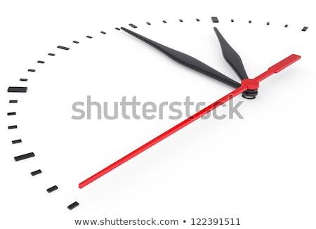Saat kırmızı beyaz iş el izlemek Stok fotoğraf © guillermo