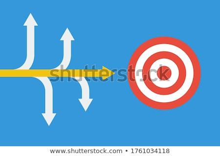 Hoofd- illustratie business werk Blauw Stockfoto © Lom