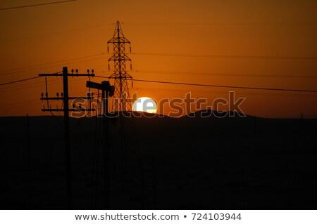 opuszczony · przemysłowych · wieża · Fotografia · starych · niebo - zdjęcia stock © aikon