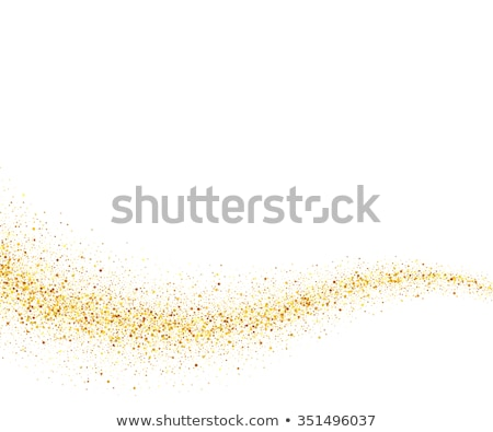 Abstract Golden Sparkles on White Background. Gold Glitter Dust Stock photo © smeagorl