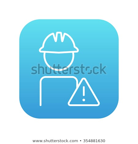 Werknemer voorzichtigheid teken lijn icon Stockfoto © RAStudio