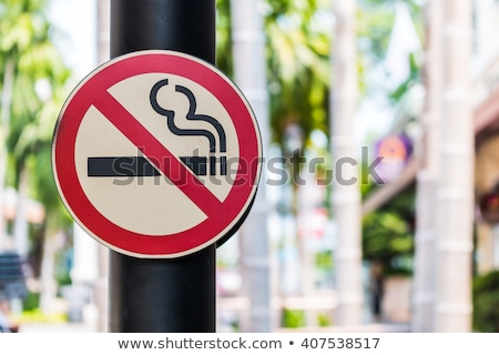Stock photo: Quit smoking message on a white background